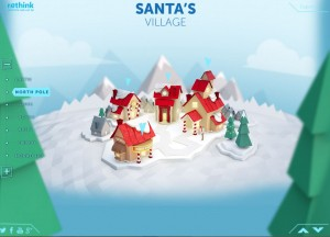 Image from santa norad site
